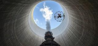 Инспекция атомной электростанции системой телеинспекции на базе противоударного квадрокоптера Elios
