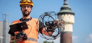Обследование инженерной инфраструктуры с помощью противоударного промышленного квадрокоптера Flyability